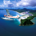 Air Whitsundays flight over Whitehaven Beach